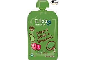 Ella's Kitchen Organic Stage 1, Pears Peas + Broccoli