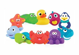 Nuby 10-Pack Little Squirts Toy