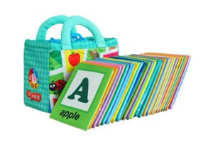 26 Letters Cloth Card with Cloth Bag Early Education Toy