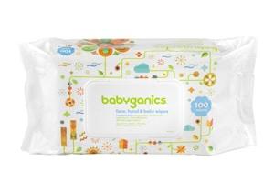 Babyganics Face, Hand & Baby Wipes