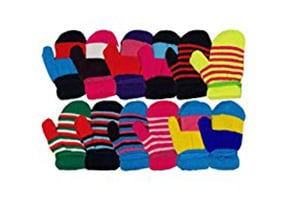 Colorful Winter Mittens - 6 Pairs