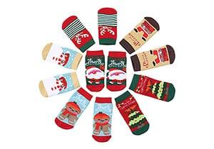 GOCUODE Baby Christmas Socks