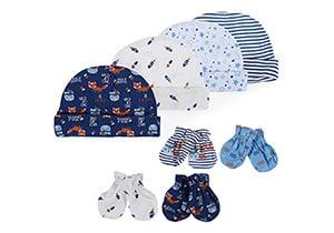Lictin Newborn Cotton Caps&Mittens