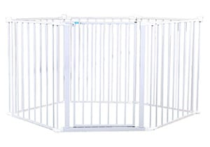 Regalo 192-Inch Super Wide Adjustable Baby Gate and Play Yard 4-In-1