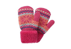 Toddlers Kids Boys Girls Warm Winter Gloves Mittens Fleece Lining Snowflake Glov