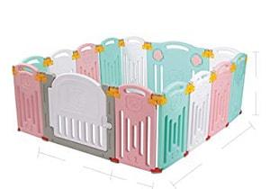 Uanlauo Foldable Baby Playpen Kids Activity Centre